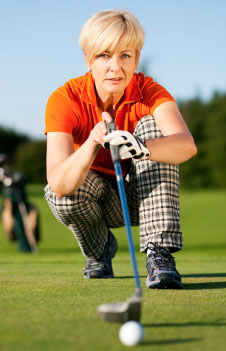 Women with a winning psychology in golf