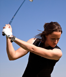 golfer female4 Trying Softer   A Radical Golf Psychology Technique 