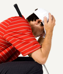 golfer male3 The Golf Psychology Cure For Over Analysing and Over Thinking