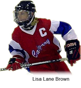 Lisa Lane Brown Playing Ringette